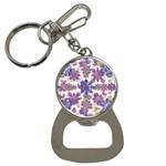 Stylized Floral Ornate Pattern Bottle Opener Key Chains