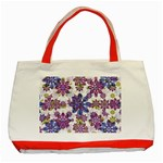 Stylized Floral Ornate Pattern Classic Tote Bag (Red)