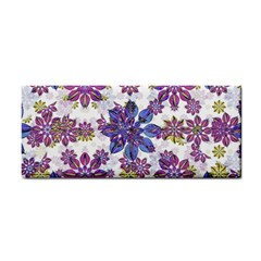 Stylized Floral Ornate Pattern Hand Towel by dflcprints
