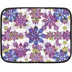 Stylized Floral Ornate Pattern Fleece Blanket (mini) by dflcprints