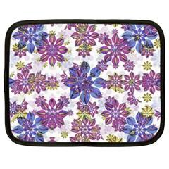 Stylized Floral Ornate Pattern Netbook Case (xxl)  by dflcprints