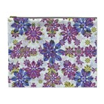Stylized Floral Ornate Pattern Cosmetic Bag (XL)