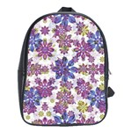 Stylized Floral Ornate Pattern School Bags(Large)