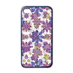 Stylized Floral Ornate Pattern Apple Iphone 4 Case (black) by dflcprints