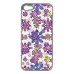 Stylized Floral Ornate Pattern Apple iPhone 5 Case (Silver)