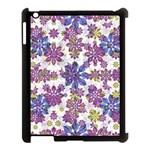 Stylized Floral Ornate Pattern Apple iPad 3/4 Case (Black)
