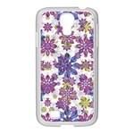 Stylized Floral Ornate Pattern Samsung GALAXY S4 I9500/ I9505 Case (White)