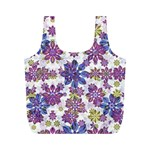 Stylized Floral Ornate Pattern Full Print Recycle Bags (M)