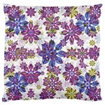 Stylized Floral Ornate Pattern Large Flano Cushion Case (Two Sides)