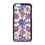 Stylized Floral Ornate Pattern Apple iPhone 6/6S Black Enamel Case