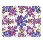 Stylized Floral Ornate Pattern Double Sided Flano Blanket (Large)