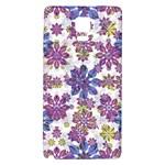 Stylized Floral Ornate Pattern Galaxy Note 4 Back Case