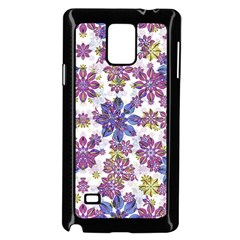 Stylized Floral Ornate Pattern Samsung Galaxy Note 4 Case (black) by dflcprints
