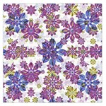 Stylized Floral Ornate Large Satin Scarf (Square)