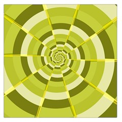 Crazy Dart Green Gold Spiral Large Satin Scarf (square) by designworld65