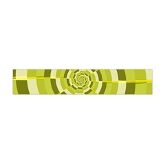 Crazy Dart Green Gold Spiral Flano Scarf (mini) by designworld65