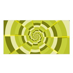 Crazy Dart Green Gold Spiral Satin Shawl by designworld65