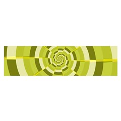 Crazy Dart Green Gold Spiral Satin Scarf (oblong) by designworld65