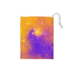 Colorful Universe Drawstring Pouches (small)  by designworld65