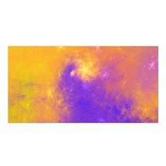 Colorful Universe Satin Shawl by designworld65