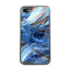 Blue Colorful Abstract Design  Apple Iphone 4 Case (clear) by designworld65