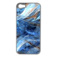 Blue Colorful Abstract Design  Apple Iphone 5 Case (silver) by designworld65
