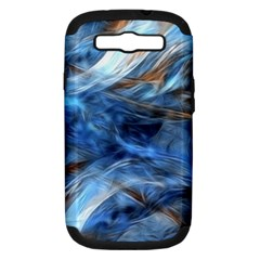 Blue Colorful Abstract Design  Samsung Galaxy S Iii Hardshell Case (pc+silicone) by designworld65