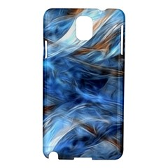 Blue Colorful Abstract Design  Samsung Galaxy Note 3 N9005 Hardshell Case by designworld65