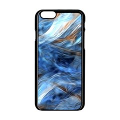 Blue Colorful Abstract Design  Apple Iphone 6/6s Black Enamel Case by designworld65