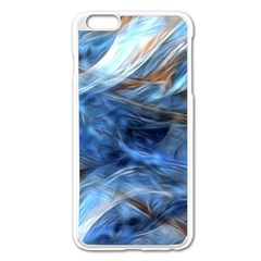 Blue Colorful Abstract Design  Apple Iphone 6 Plus/6s Plus Enamel White Case by designworld65