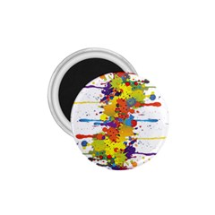 Crazy Multicolored Double Running Splashes 1 75  Magnets by EDDArt