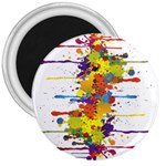 Crazy Multicolored Double Running Splashes 3  Magnets