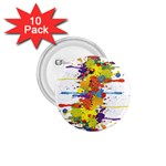 Crazy Multicolored Double Running Splashes 1.75  Buttons (10 pack)
