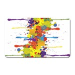 Crazy Multicolored Double Running Splashes Magnet (Rectangular)
