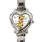 Crazy Multicolored Double Running Splashes Heart Italian Charm Watch