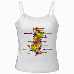 Crazy Multicolored Double Running Splashes Ladies Camisoles by EDDArt