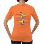 Crazy Multicolored Double Running Splashes Women s Dark T-Shirt