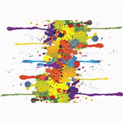 Crazy Multicolored Double Running Splashes Collage Prints by EDDArt
