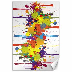 Crazy Multicolored Double Running Splashes Canvas 20  X 30   by EDDArt