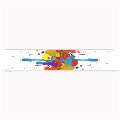 Crazy Multicolored Double Running Splashes Small Bar Mats by EDDArt