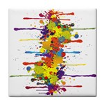 Crazy Multicolored Double Running Splashes Face Towel