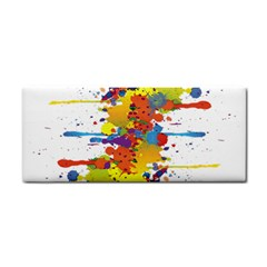 Crazy Multicolored Double Running Splashes Hand Towel by EDDArt