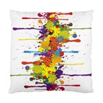 Crazy Multicolored Double Running Splashes Standard Cushion Case (One Side)