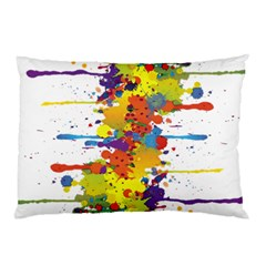 Crazy Multicolored Double Running Splashes Pillow Case by EDDArt