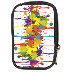 Crazy Multicolored Double Running Splashes Compact Camera Cases by EDDArt
