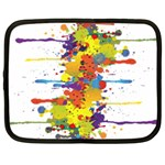 Crazy Multicolored Double Running Splashes Netbook Case (XXL)