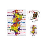Crazy Multicolored Double Running Splashes Playing Cards (Mini)