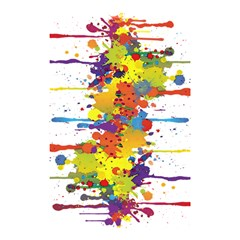 Crazy Multicolored Double Running Splashes Shower Curtain 48  X 72  (small)  by EDDArt