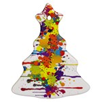Crazy Multicolored Double Running Splashes Ornament (Christmas Tree)