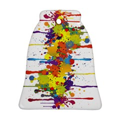 Crazy Multicolored Double Running Splashes Ornament (bell)  by EDDArt